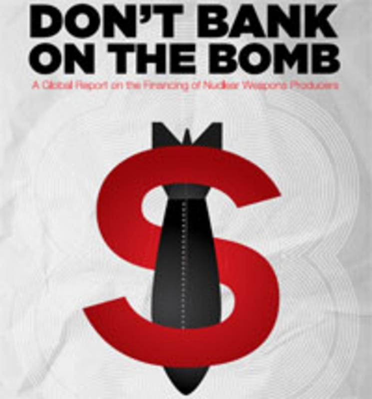 "Cover der Studie ""Don#t Bank on the Bomb"". Foto: ICAN/PAX"